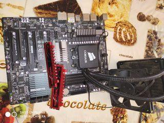 lote placa ram,s procesador y disipador