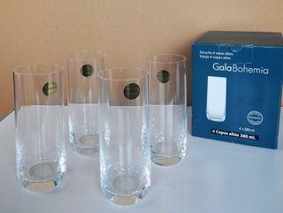 (NUEVO) Pack 4 vasos 380 ml de cristal Bohemia Est
