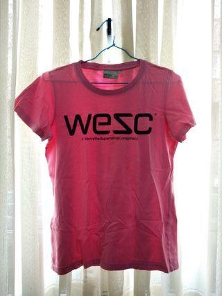 Camiseta WESC rosa