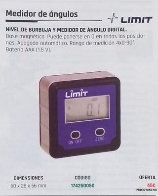 MEDIDOR DE ÁNGULOS DIGITAL LIMIT