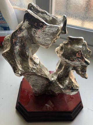 Figura en alpaca estatua plata
