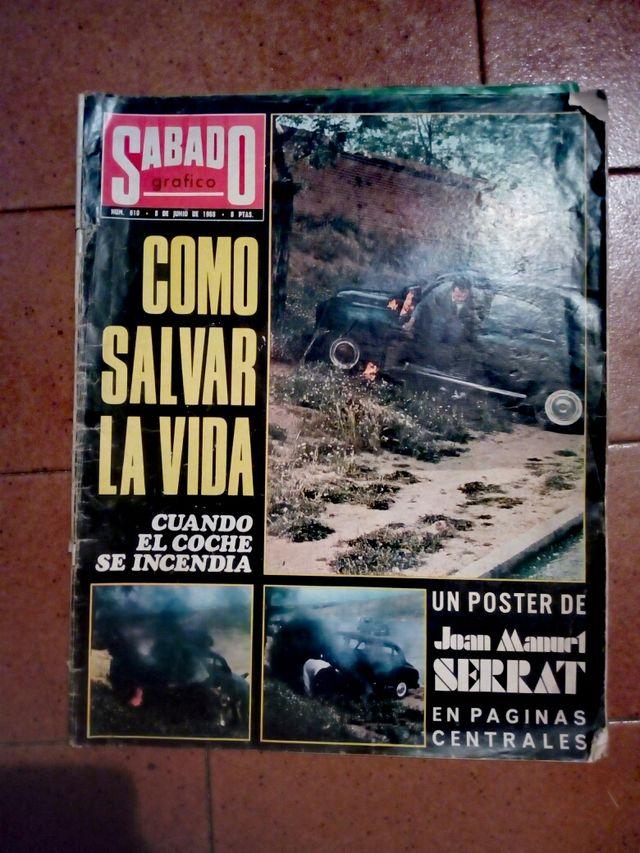 Antigua revista años 60 poster Serrat