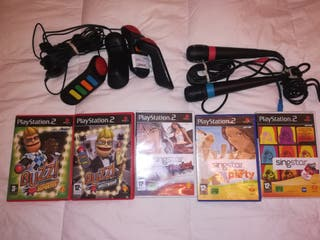 lote consola playstation 2.