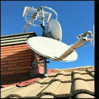 Orientación de antenas satelite y montaje.