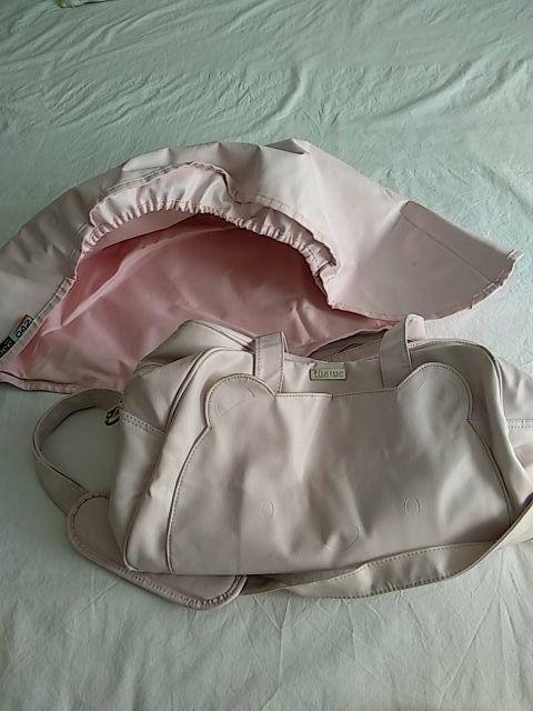 capota rosa (baby Ace) y bolsa carricoche TUC TUC