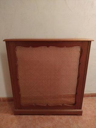 Mueble cubreradiador antiguo madera