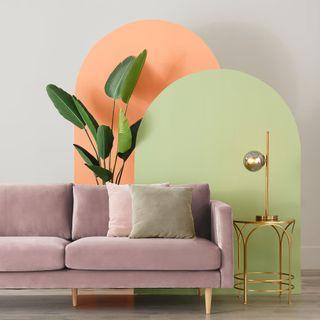 sofá terciopelo