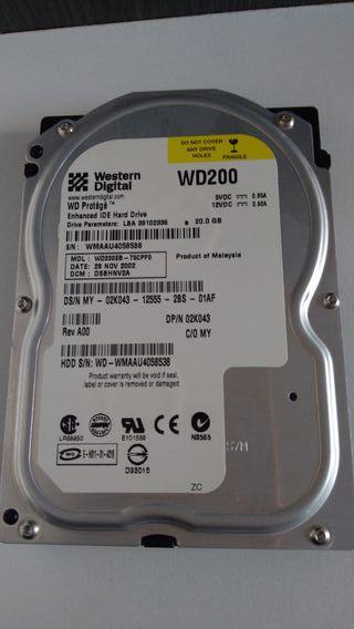 """Disco Duro interno 3.5"""" 20 GB IDE Western Digital"""