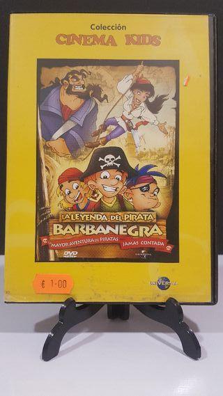 la leyenda del pirata barbanegra dvd