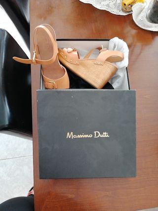 Sandalias de piel Massimo Duti