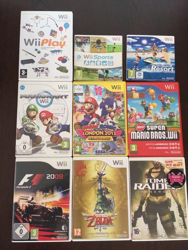 Nintendo Wii + 18 Juegos