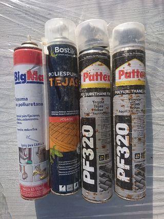 4 espuma poliuretano grandes con 1 aplicador
