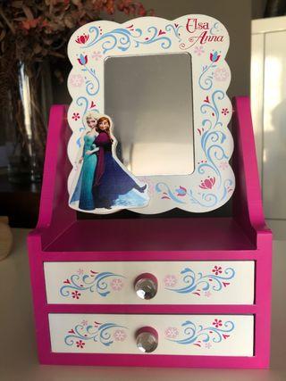 Joyero de madera - tocador Frozen. Regalo anillos