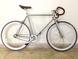 Bicicleta Fixie Pepita Bikes mod. SONGO Plateada