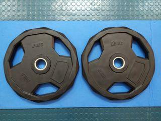 2 Discos 20 kg NUEVOS 50mm olímpicos