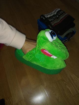 zapatillas de casa 3años cocodrilo