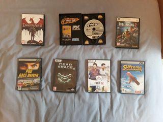 Lote juegos PC + mando