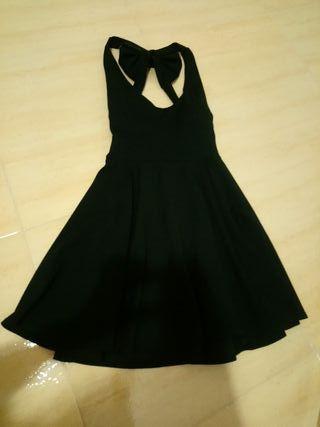 vestido negro lazo talla s