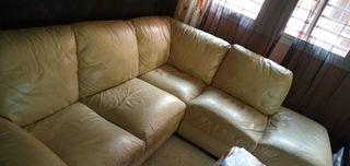 sofá rinconera de cuero
