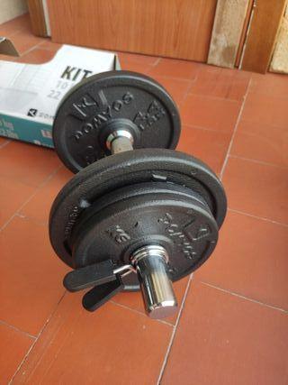 Mancuerna Decathlon Kit 10 Kg
