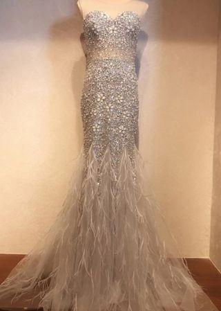 vestido de pedrería de fiesta