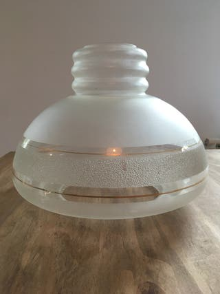 Pantalla lámpara cristal antigua