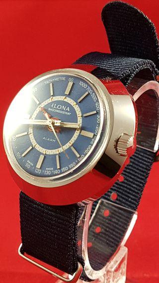 Reloj ILONA AÑO 1970 con alarma mecanica , N.O.S