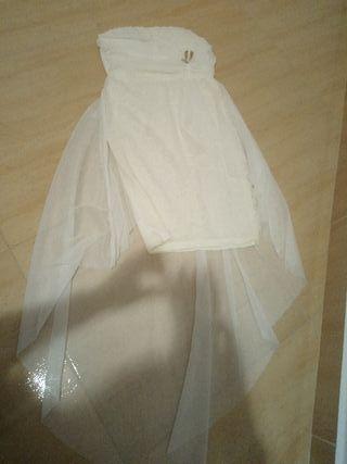 vestido encaje blanco corto talla s