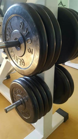 Discos de caucho para pesas Gervasport