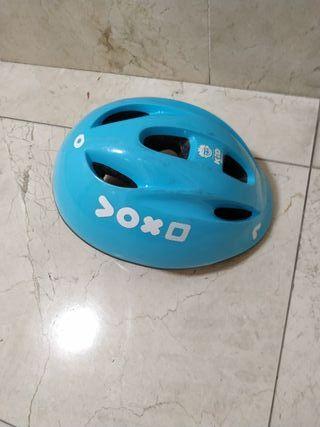 Casco bici azul Decathlon
