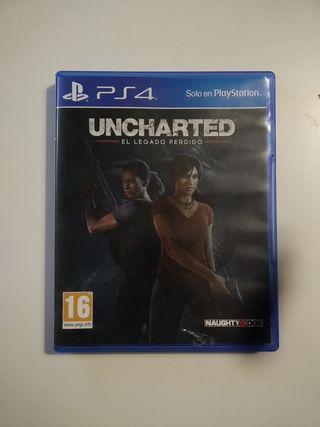 Juego Uncharted el legado perdido PS4