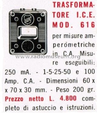 Antiguo transformador ICE Mod. 616 Nuevo