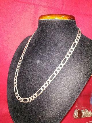cadena de plata maciza de hombre