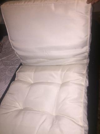 Dos Cojínes blanco para sillón