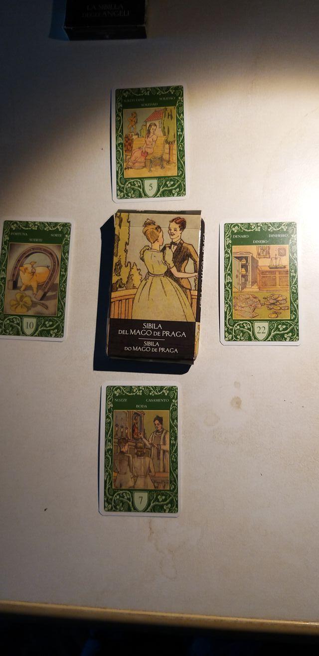 """cartas Tarot - Oraculo """"Sibila del Mago de Praga"""""""