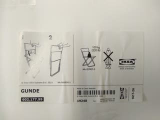 silla plegable de IKEA