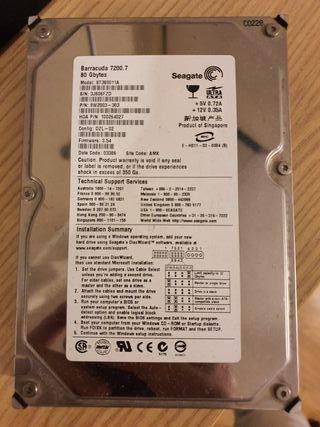 Disco duro 80GB seagate barracuda ide