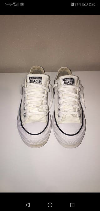 CONVERSE BLANCAS ALL STAR PLATAFORMA ORIGINALES