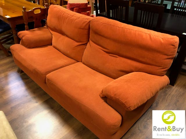 Sofa 3 plazas naranja