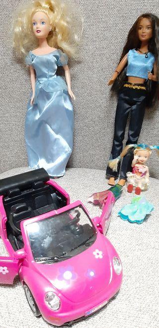 Pack muñecas y coche