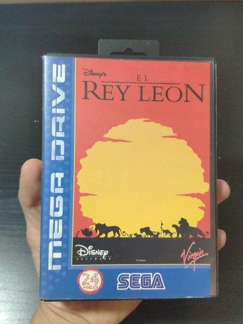 juego el rey león de consola sega mega Drive