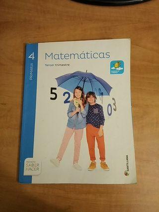 libro de matemáticas de 4° primaria