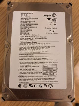 Disco duro 200GB seagate barracuda ide