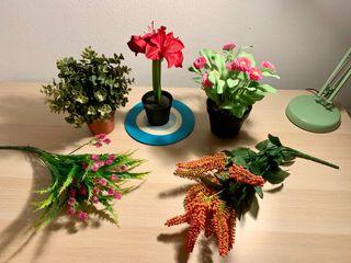 Urge plantas artificiales y macetas ikea nuevas