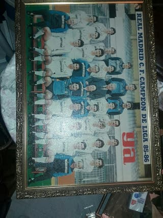 envio gratis cuadro antiguo Real Madrid