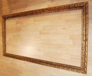 Antiguo marco madera dorada (162´5cm)