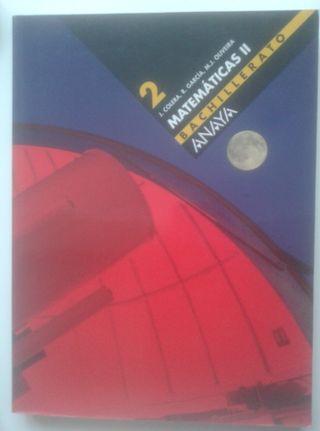 Libro Matemáticas 2 Bachillerato ANAYA DVD