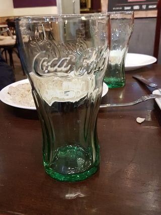 vaso coca cola cristal