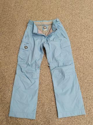 Pantalones snowboard impermeables azul