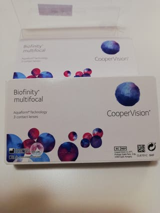 Lentillas biofinity multifocal (progresivas)
